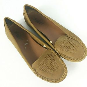 Lucky Brand Vegan Leather Tan Loafers Aninah 9M